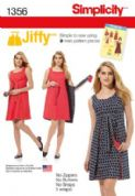 1356 Simplicity Pattern: Misses' Jiffy Reversible Wrap Dress